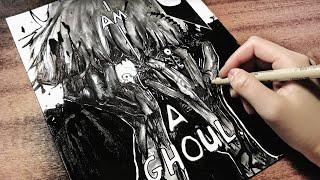 Drawing Kaneki Ken: I am a Ghoul [Manga page #3]