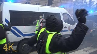 Paris: Émeutes extrêmes des gilets jaunes / Extreme riots by yellow vests December 2018