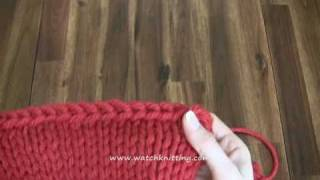 Bind off - Watch Knitting - lesson 4
