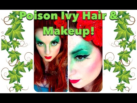 Poison Ivy Halloween Hair and Makeup Tutorial by CHERRY DOLLFACE