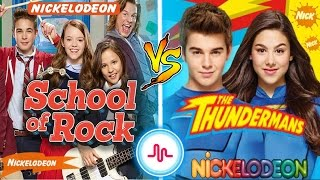 School Of Rock VS The Thundermans Musical.ly Battle | Nickelodeon Stars New Musically