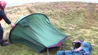 Hilleberg Akto on Great Mell Fell in Storm condtions