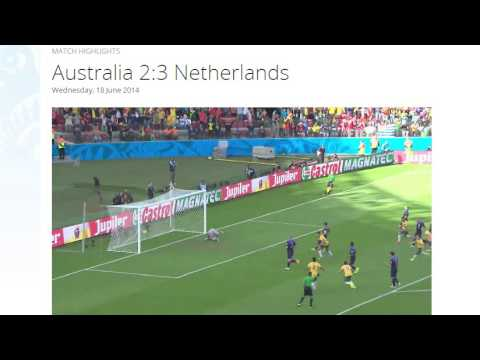 Australia 2-3 Netherlands All Goals & Highlights HD ( FIFA World Cup Brasil 2014)