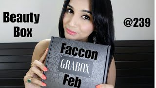 GRABOX Feb 2018 | Beauty Box @ 239 | 5 Full Size MakeUp & Skincare Products | Unboxing & Review