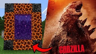 How To Make a Portal to the GODZILLA Dimension in Minecraft PE