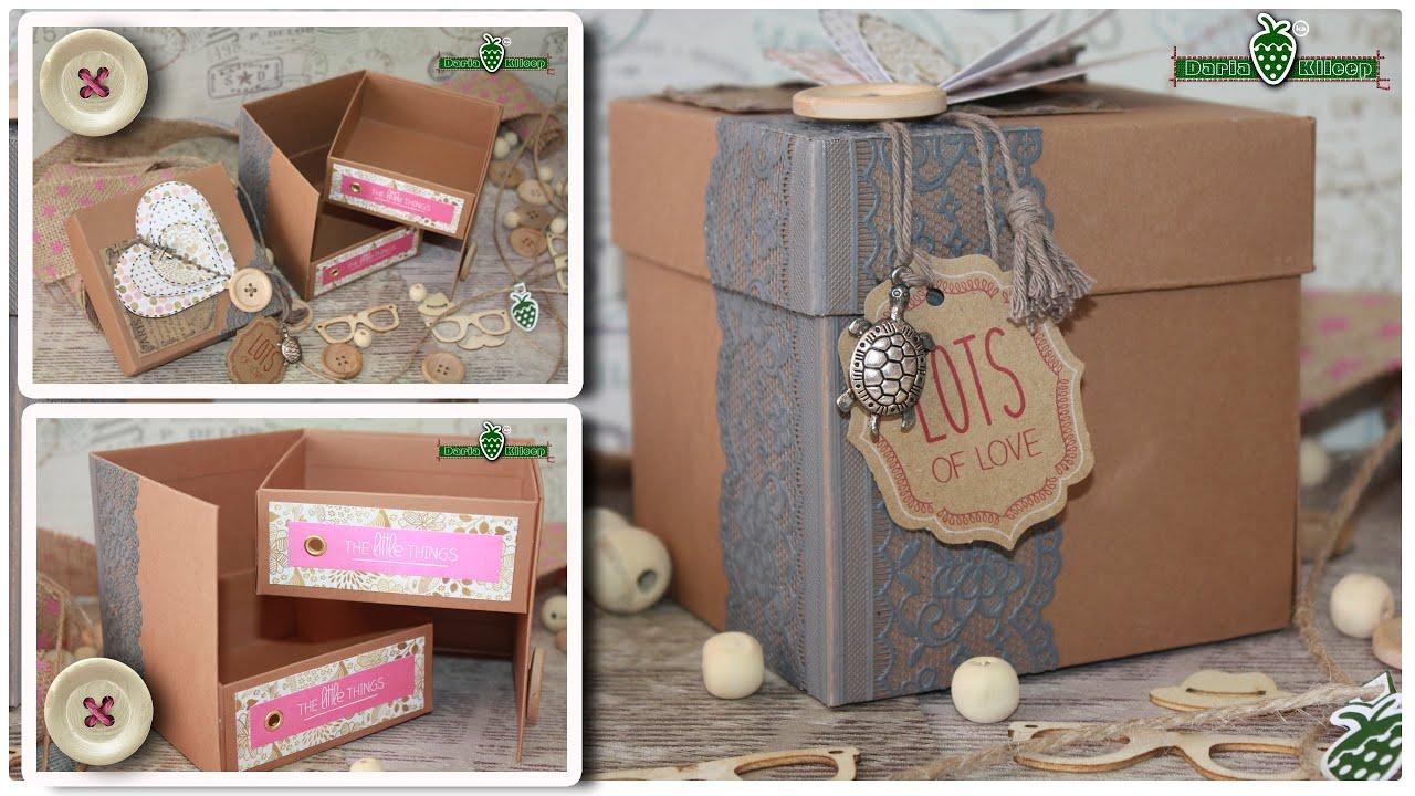 Картинки шкатулки своими руками из картона