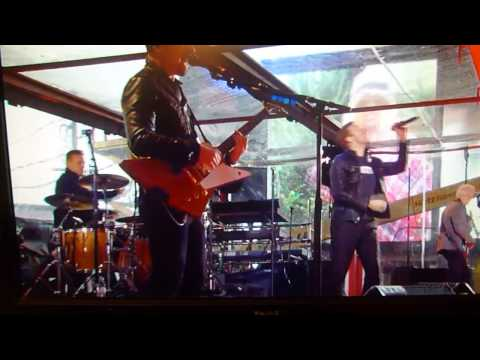 U2 with CHRIS MARTIN Coldplay performs BEAUTIFUL DAY from TIMES SQUARE NYC 12/1/14