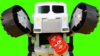 Matchbox Stinky The Garbage Truck Eats Surprise Cars And Disney Pixar Cars Lightning McQueen