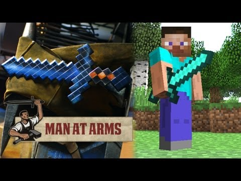 Forging the Diamond Sword (Minecraft) - MAN AT ARMS