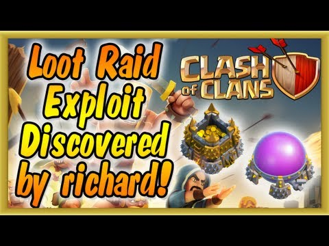 Clash of Clans - Loot Exploit Cheat Discovered by richard (Players Cheating in Raiding)