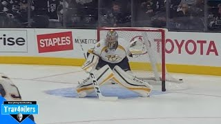Pekka Rinne Pregame Warmup Staples Centre Oct 31 2015 [HD]