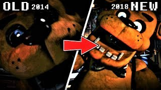 ALL Ultimate Custom Night JUMPSCARES COMPARISON & EVOLUTION (FNaF 2014 to 2018)