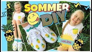 DIY SOMMER FASHION Pineapple Look Tshirt & Schuhe coole Mädchen