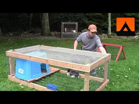 How to Build a Rabbit Hutch -  Cheap and Easy