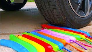 Experiment: Car vs Emoji Balloons | Crunchy & Soft Test Crushing Things by Car | ASMR