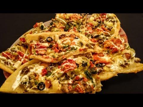 Пицца Домашняя пицца Рецепт в духовке с грибами Что как приготовить ужин классический вкусно видео