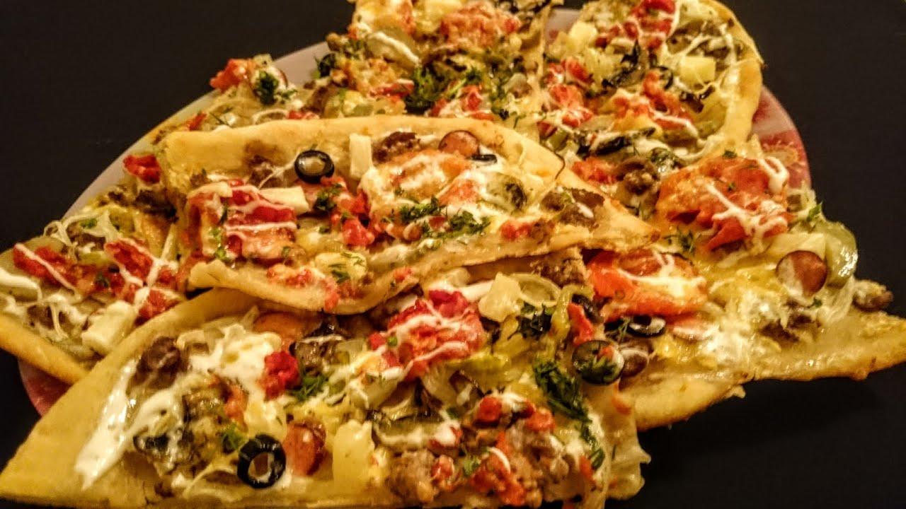 Как сделать пиццу в духовке с шампиньонами