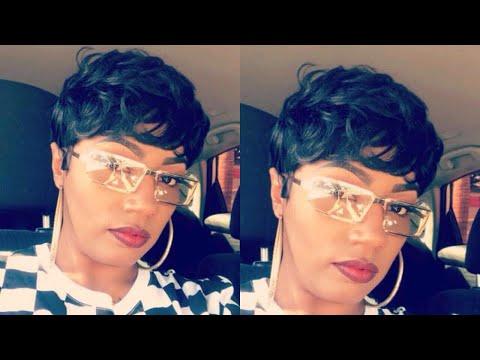 17.99 -Pixie Cut wig human hair  HALLE BERRY SENSATIONNEL EASY BUMP 27  samsbeauty