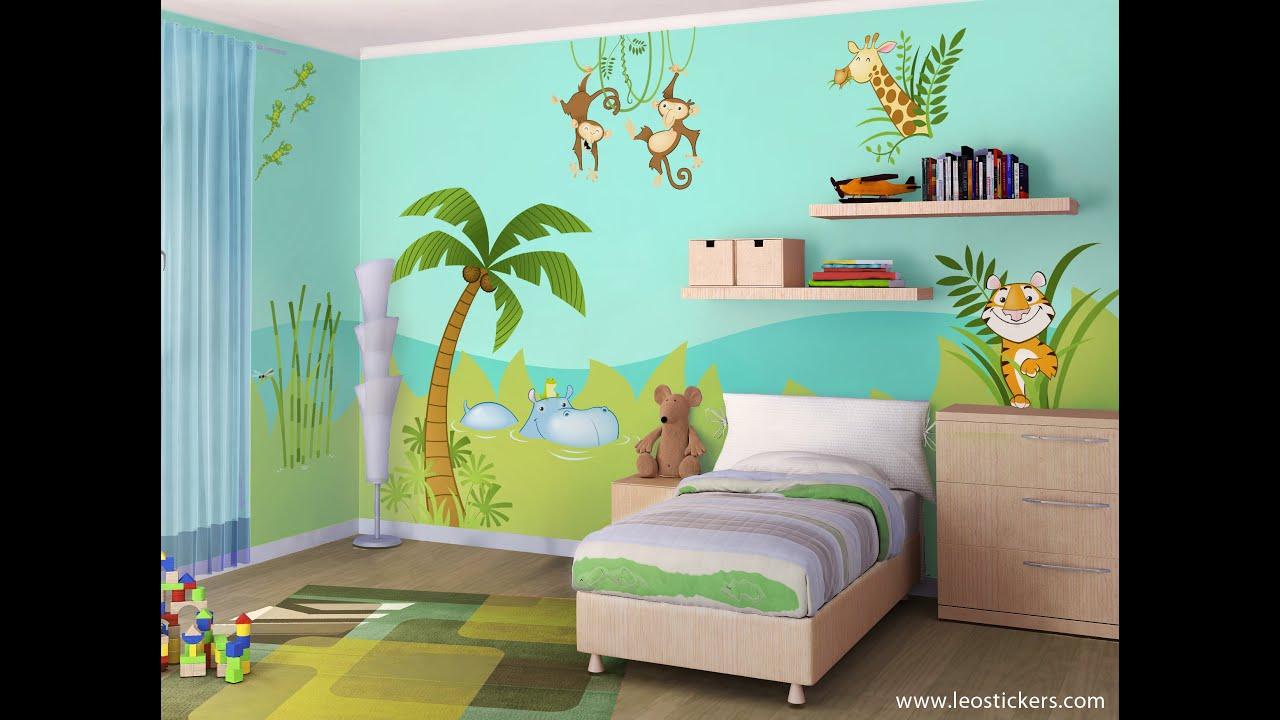 Decorare la cameretta come una giungla parte 1 - Ideas para decorar habitaciones infantiles ...