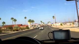 Driving into Twentynine Palms, California