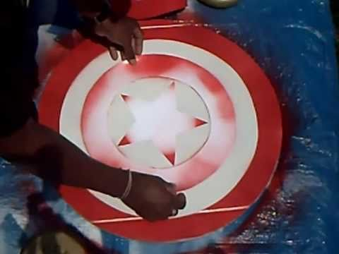 The Avengers How-to: Cardboard Captain America Shield