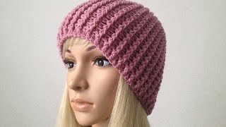 Download How to Crochet a Beanie Hat P#1│by ThePatterfamily 3Gp Mp4