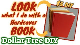 LOOK what I do with this Hardcover BOOK | $5 DOLLAR TREE DIY