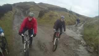 GMFRS CYCLE SECTION. 1st official mountain bike ride 18th dec 2012 SCOUT MOOT/CRAGG QUARRY/EDENFIELD