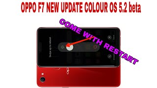 NEW UPDATE OF OPPO F7 WITH RESTART