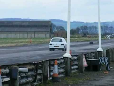 Renault Clio Valver win, drag racing at York raceway