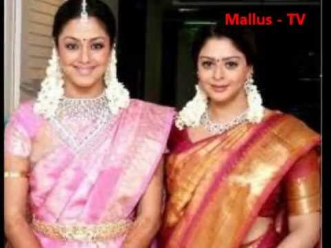 Jyotika and Sis Nagma in Saree.