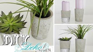 diy blumen bert pfe aus beton selber machen deko kitchen. Black Bedroom Furniture Sets. Home Design Ideas