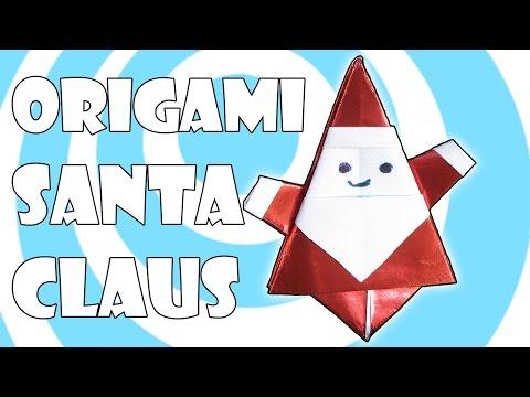Как сделать оригами санта
