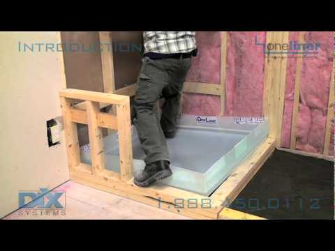 Shower Pan Liner Install Dix Intro To Dix Systems OneLiner For Mortar Bed Til