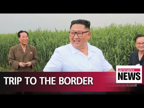Kim Jong-un visits factories near border with China