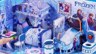 DIY Miniature Frozen Bedroom and Bathroom #40