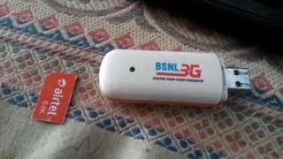 Unlock bsnl 3G data card