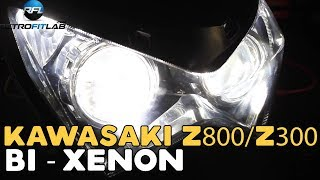 Kawasaki Z800/Z300 tutorial: Bi-xenon projector instructions