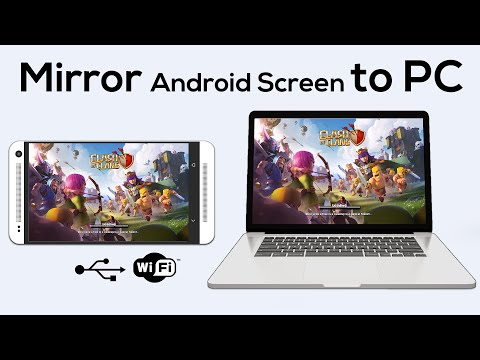 How to Mirror your Android Screen to PC   No Root   WiFi   USB