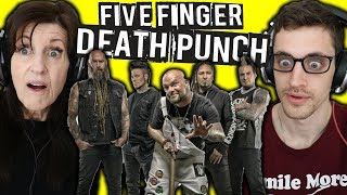 "Mom REACTS to METAL | FIVE FINGER DEATH PUNCH: ""Wash It All Away"""