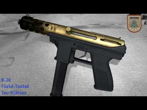 Tec - 9 Brass - Skin Wear Preview