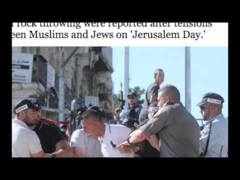 Violent protest erupts at Jerusalem's Damascus Gate