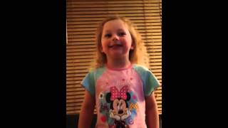 Chloe aged 4 sings Harry Champion