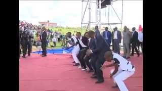 President Kenyatta dancing in Machakos county