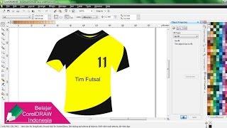Membuat Desain Kaos Sederhana dengan CorelDRAW | Belajar CorelDRAW