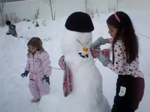 Building Snowman Craft