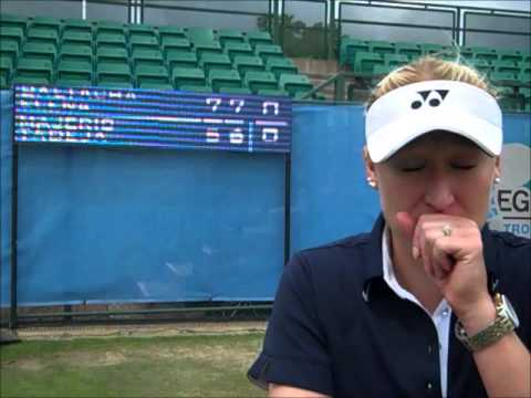 Elena Baltacha interviewed after clinching the 2013 Aegon Nottingham Challenge