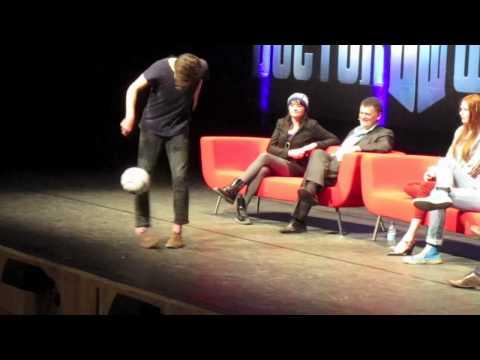Doctor Who Con Matt Smith Football Challenge