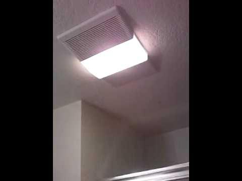 nutone light fan heater combo unit pt 2 youtube. Black Bedroom Furniture Sets. Home Design Ideas