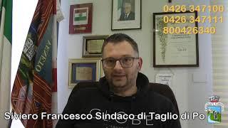 Intervista al Sindaco di Taglio di Po  emergenza CODIV-19